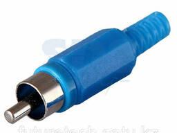 Разъем штекер RCA синий пайка Rexant