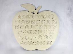 Развивающий алфавит для детей из фанеры