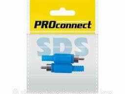 Разъём аудио, RCA пайка, синий, (2шт. ) (пакет) PROconnect