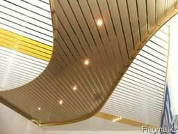 Реечные потолки. Люксалон. Золото.