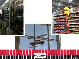Рекламный мобайл, подвесной указатель (изготовление,монтаж).