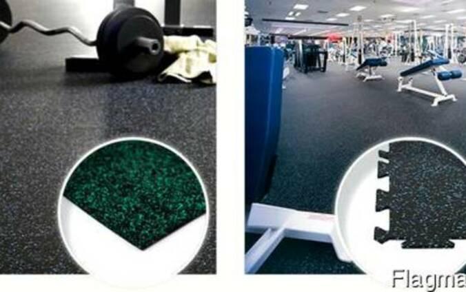 Резиновое покрытие для фитнес залов