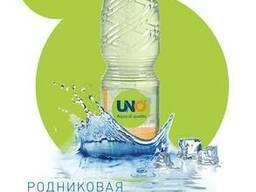 Родниковая питьевая вода UNO, 0,5 л.