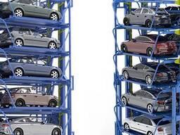 Роторная парковка наземного типа