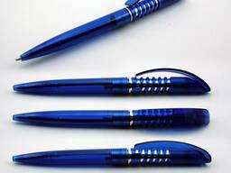 Ручка пластиковая пружинка под логотип