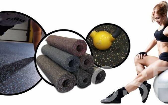 Рулонное резиновое покрытие Fitness