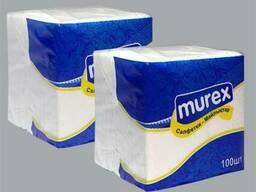 Салфетки белые 1-слойные