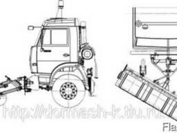Щеточные оборудование передниее на колесиках ЩП-3000