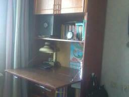 Шкаф-секретер высокий с выдвигающимся столом и полочками