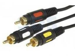 Шнур 3RCA Plug - 3RCA Plug 1. 5М (GOLD) Rexant