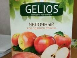 Сок Яблочный Gelios 3л, прямой отжим