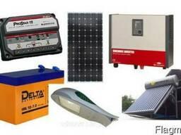 Солнечные батареи. Инверторы, Контроллеры заряда , Резервное
