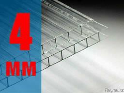 Сотовый поликарбонат Премиум качества , 4 мм , прозрачный