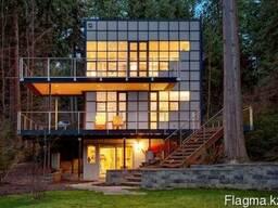 Спайдерное остекление фасадов, зданий, конструкций, балконов