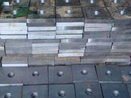 Стальные анкерные плиты 90x360x50 мм М90 ГОСТ 24379. 1-80