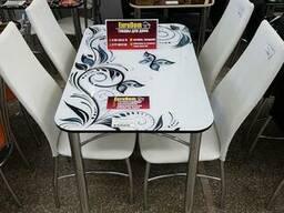 Стеклянный стол 70см *110см