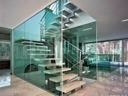 Стеклянные лестницы и перильные ограждения - фото 4