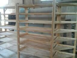 Стеллаж (витрина), под хлебобулочные изделия, деревянный. - фото 2