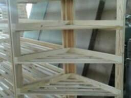 Стеллаж (витрина), под хлебобулочные изделия, деревянный. - фото 3