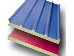 Стеновые сэндвич-панели с МВУ толщиною 60 мм