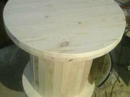 Стол деревянный круглый. Производство