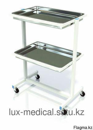 Столик процедурный с 2-мя металлическими поддонами