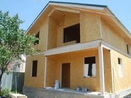 Строительство деревянно-каркасных домов, коттеджей из сип па