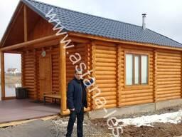 Строительство домов из дерева (СРУБ, Оцилиндованное бревно,
