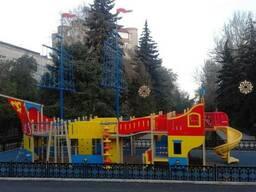 Строительство футбольного поля, гольф-поля, детских площадок