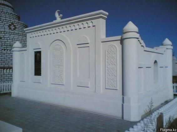 Строительство мазаров из белого камня