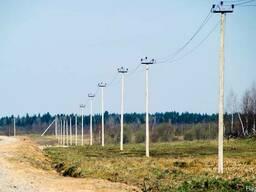 Строительство высотных линии Электропередач.