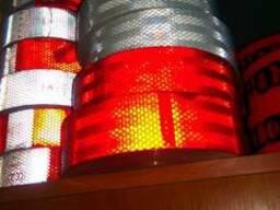 Светоотражающая лента белая, красная 5см*50м в наличии