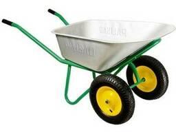 Тачка садово-строительная, 2-х колесная, усиленная, 320 кг