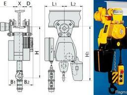 Таль электрическая Цепная B 091M г/п 0, 125т высота 6м