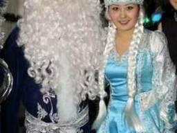 Театральный Дед Мороз и Снегурочка и на санях аниматор