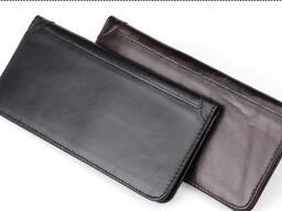 Тонкое кожаное портмоне с RFID protected/Натуральная кожа/По