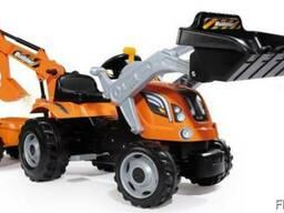 Трактор педальный строительный с 2 ковшами и прицепом 710110