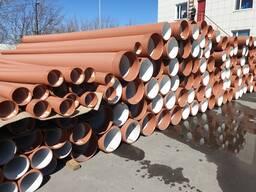 Трубы канализационные двухслойные гофрированные