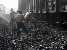 Уголь КСН на вагоне