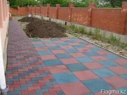 Укладка резиновой плитки,тротуарной плитки,брусчатка