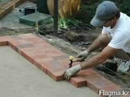 Укладка тротуарной и резиновой плитки