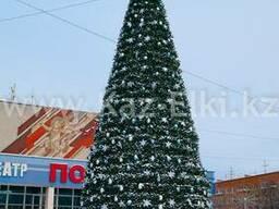 Уличная искусственная каркасная елка (хвоя-пленка) 4м