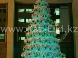 Уличная искусственная каркасная елка(хвоя-пленка), 7м