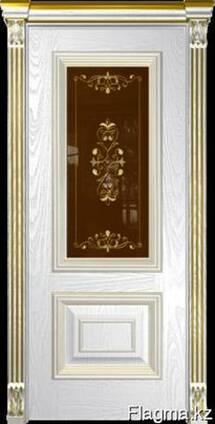 Ульяновские двери в Астане,Модель Имидж,жемчуг/патина золото