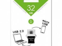 USB накопитель Smartbuy 32GB OTG POKO series Black