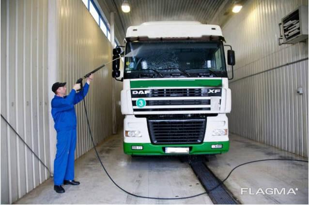 Услуги автомойки для грузового транспорта