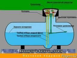 Установка газгольдера (Монтаж)