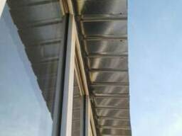 Установка крыша на балконе