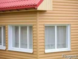 Виниловый сайдинг , серия блок хаус – «бревно» - фото 1