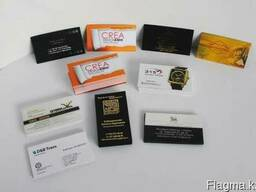 Визитки: Изготовление и печать визиток любой сложности, Алма